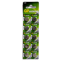 Батарейка GP дискова Alkaline button cell.1.5V. A76F-U10 в уп. 10шт 15496