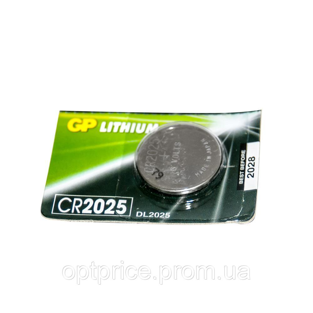 Батарейка GP дискова Lithium Button Cell 3.0V ЦЕНА ЗА УП. В УП.5ШТ. CR2025-8U5 литий 1130