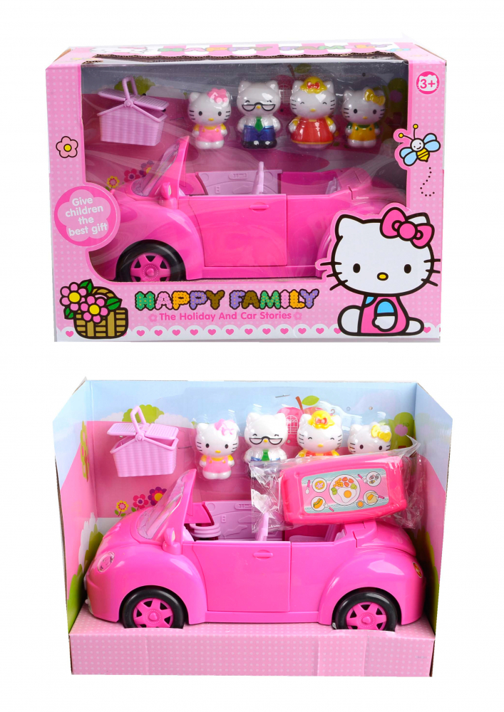 Игрововй набор герои и машина Hello Kitty tm5508b